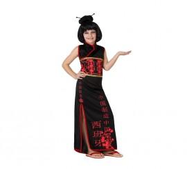 Disfraz de China negro para niñas