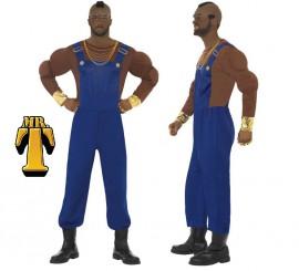 Disfraz M.A. Barracus o Mr. T Peto Azul para Hombre en varias tallas