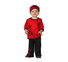 Disfraz de Chino rojo para bebés en varias tallas
