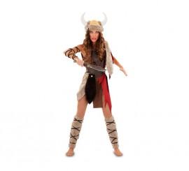 Disfraz de Vikinga o Theodhild para mujer talla M-L