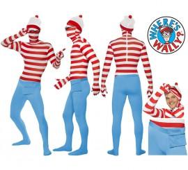 Disfraz o Mono Segunda Piel de Dónde Está Wally en varias tallas