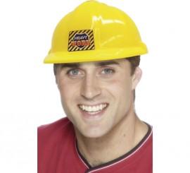 Casco Amarillo de Obrero de PVC