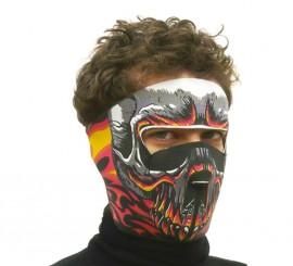 Máscara de Monstruo Fuego de tela para Halloween