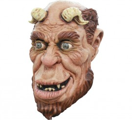 Máscara Horned Ogre Sátiro u Ogro Cornudo para Halloween