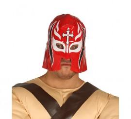 Máscara de Lucha Libre Roja con Cruz