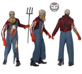 Disfraz de Granjero Zombie para Hombre en varias tallas