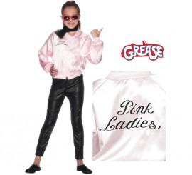 Chaqueta Pink Lady de Grease con logo para niña