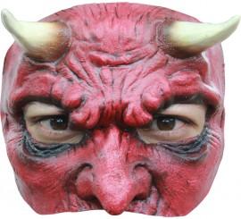 Media Máscara Devil Diablo con Cuernos para Halloween