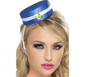 Mini Sombrero de Marinera con Ancla Dorada