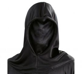 Capucha negra de tela para Halloween