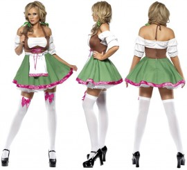 Disfraz Alemana Sexy para Mujer talla M para Oktoberfest
