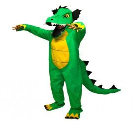 Disfraz de Dragón Verde para Adultos