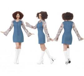 Disfraz Disco Groovy Dancer de los 70s para Mujer