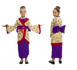 Disfraz de Geisha 5-6 años para niña