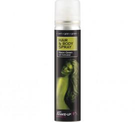 Spray Pintura Cuerpo y Cabello Fluorescente color Verde