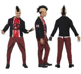 Disfraz Punk Anarquista de los Años 80 para Hombre