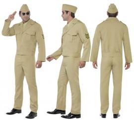 Disfraz de Soldado de los E.E.U.U. 2ª GM para Hombre