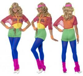 Disfraz de Aerobic de los Años 80 para Mujer