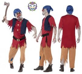 Disfraz de Enanito Zombie para Hombre