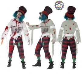 Disfraz Sombrerero Loco Zombie para hombre en varias tallas