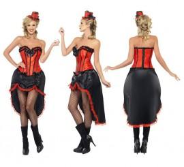 Disfraz de Bailarina de Burlesque Rojo para Mujer