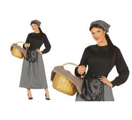 Disfraz de Castañera de mujer para Navidad