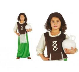 Disfraz de Posadera verde para niñas en varias tallas