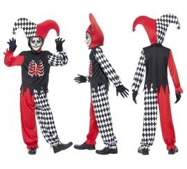 Disfraz de Arlequín Siniestro para Niños en varias tallas