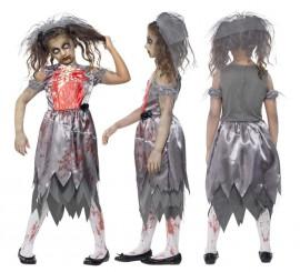 Disfraz Novia Zombie para Niña
