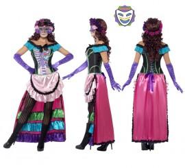 Disfraz de Día de Difuntos Catrina para Mujer