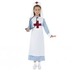 Disfraz Enfermera de la 1ª GM para Niñas en varias tallas