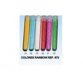 Tubo de Purpurina Rainbow de 3 gr. de color Rosa