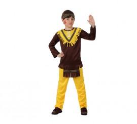 Disfraz de Indio marrón para niños