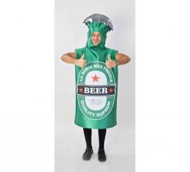 Disfraz de Botella de Cerveza para adultos