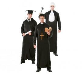 Disfraz de Estudiante, Cura y Juez 3 en 1 para hombre