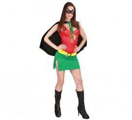 Disfraz de Heroína Robin para mujer
