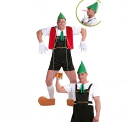 Disfraz de Marioneta + Tirolés para hombre
