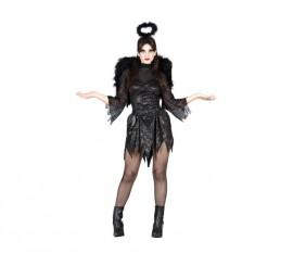 Disfraz de Ángel Caído negro para mujer de Halloween