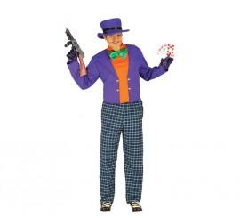 Disfraz de Crazy Trickster de hombre para Halloween