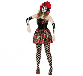 Disfraz de Calavera Catrina de mujer para Halloween