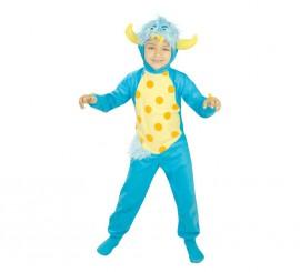 Disfraz de Monstruito azul para niños de 5 a 6 años