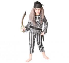 Disfraz de Pirata Esqueleto para niños en varias tallas