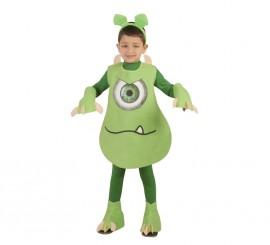 Disfraz Monstruito verde para niños en varias tallas