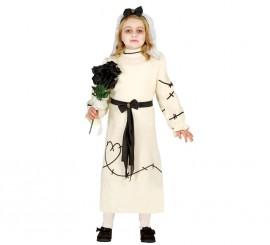 Disfraz de Novia de Franky Zombie para niñas