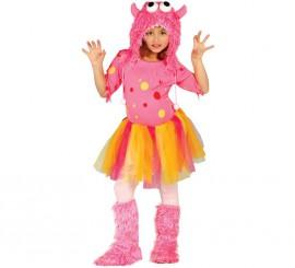Disfraz de Monstruita rosa para niñas en varias tallas