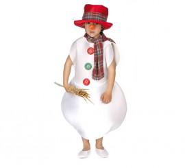 Disfraz de Muñeco de Nieve para Niño de 9 a 11 años