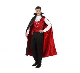 Disfraz de Vampiro o Drácula hombre para Halloween en varias tallas