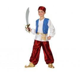 Disfraz de Príncipe Árabe granate para niños