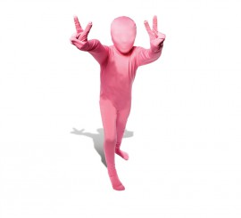 Disfraz de MORPHSUIT color rosa talla M infantil