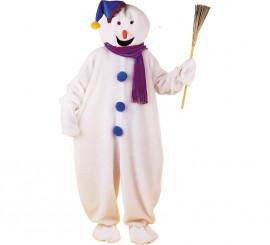 Disfraz de Muñeco de Nieve adultos para Navidad